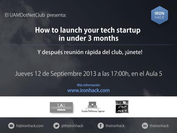 UAMDotNetClub&Ironhack12Septiembre2013